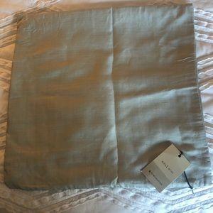 West Elm Silver / Grey Silk Pillow Cover